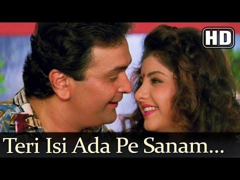 Teri Isi Ada Pe Sanam - Deewana Song - Rishi Kapoor - Divya Bharti