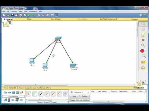 network lap Packet Tracer printer- lec 2