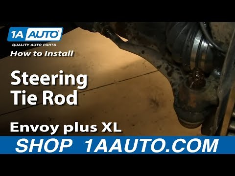 How To Install Replace Outer Steering Tie Rod 2002-09 GMC Envoy plus XL and XUV