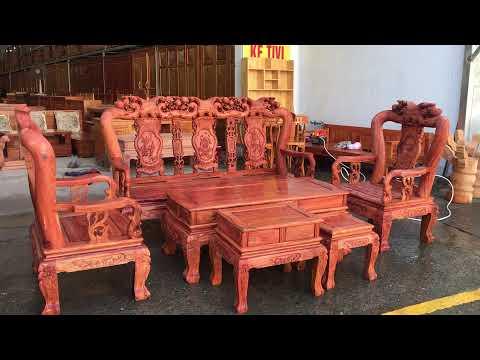 Salon gỗ Hương Đá tay 10 - 6 món
