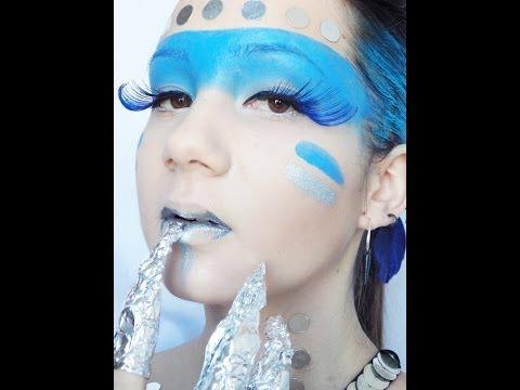Maquillage artistique : Chasseuse de Primes futuiste