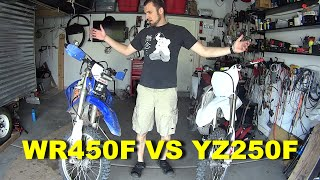 2. Yamaha WR450F vs YZ250F - True Weight