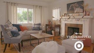 Family Living Room Makeover I Target's Threshold Line for Home by Tastemade