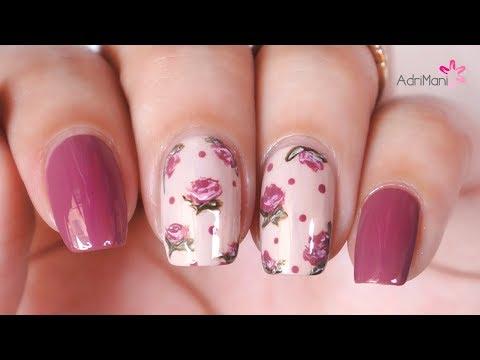 Diseños de uñas - Uñas Vintage - ¡Diseño muy fácil!  Collab. w/ Life World Women