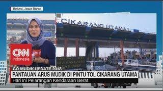 Video Pantauan Arus Mudik di Pintu Tol Cikarang Utama - Go Mudik 2018 | 07.00 MP3, 3GP, MP4, WEBM, AVI, FLV Januari 2019