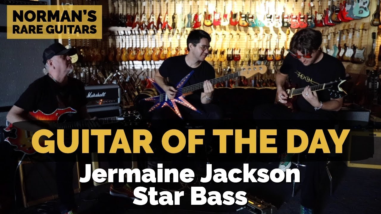 Guitar of the Day: Jermaine Jackson Star Bass | Halloween Special at Norman's Rare Guitars