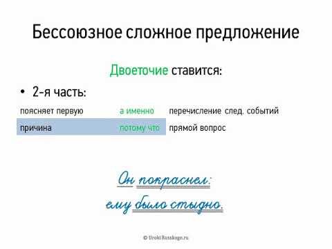 Бессоюзное сложное предложение (двоеточие) (9 класс, видеоурок-презентация) (видео)