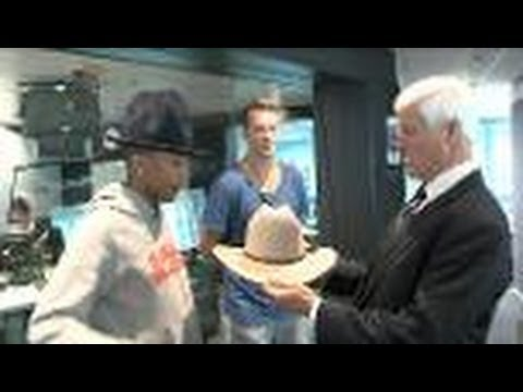 Pharrell Williams And Bob Katter Talk Hats
