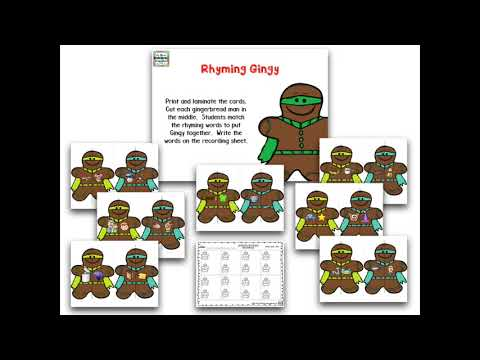Gingerbread Man Superhero Centers