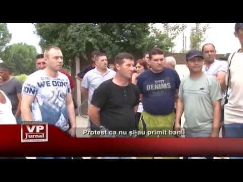 Protest ca nu si-au primit banii