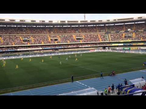 Chievo-Juventus depuis les tribunes du Bentegodi