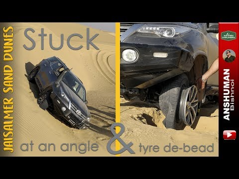 Toyota FORTUNER Recovery: Stuck at an angle & Tyre De-bead on a Sanddune