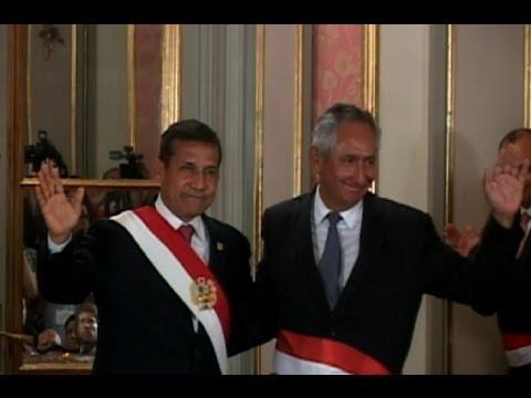 Humala designa como premier a René Cornejo y estrena nuevo gabinete