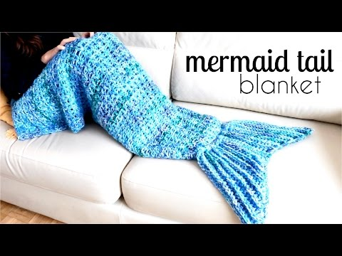 How to crochet and make  a MERMAID TAIL BLANKET easily? (VIDEO)