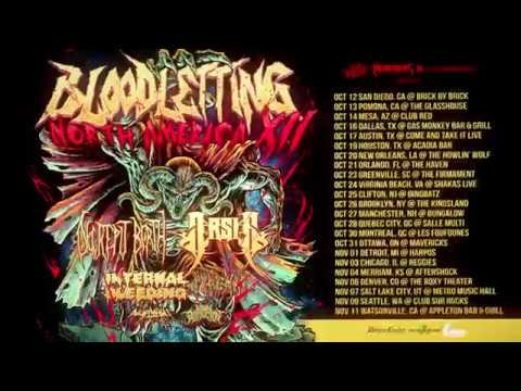 ARSIS / DECREPIT BIRTH - Bloodletting North American Tour (OFFICIAL TRAILER)