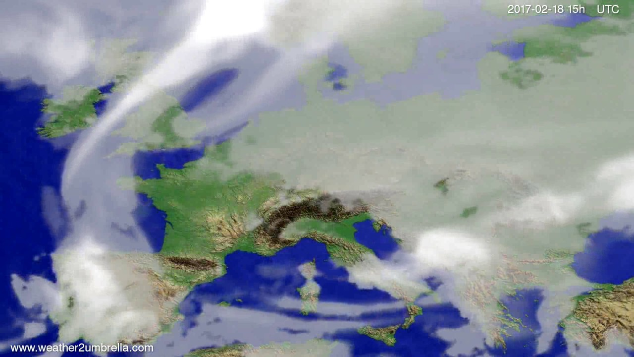 Cloud forecast Europe 2017-02-16