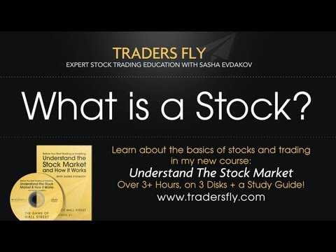 stock - What exactly is a stock? Get my latest course : Save time learning to trade at: http://tradersfly.com -If you purchase stock in Google, you own a small fract...