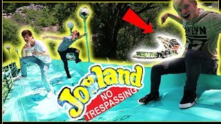 Jake and us explore the abandoned Joyland Amusement Park... this was the coolest experience exploring we have ever done.