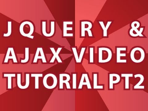 JQuery Video Tutorial Pt 2