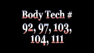 Tech of the Week 15 – Body Tech (5 tech in 1 vid!)