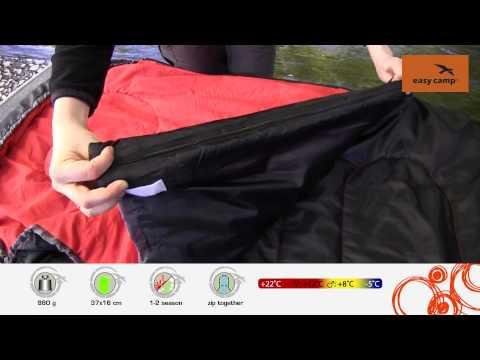 Відеоогляд туристичного спального мішка Easy Camp Cosmos 150