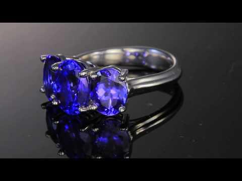 Tanzanite Three Stone Ring