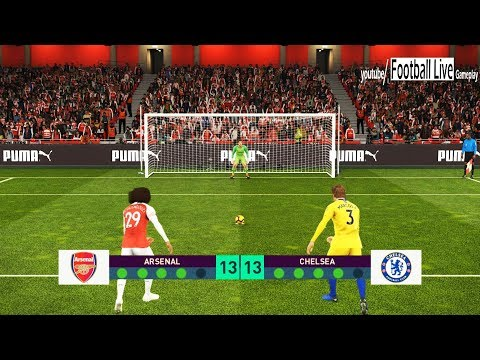 PES 2019 | Arsenal Vs Chelsea FC | Penalty Shootout | Gameplay PC