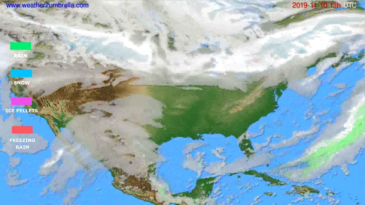 Precipitation forecast USA & Canada // modelrun: 00h UTC 2019-11-09