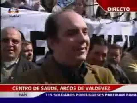 Reportagem da SIC no dia da manifestação em Arcos de Valdevez pelas urgências