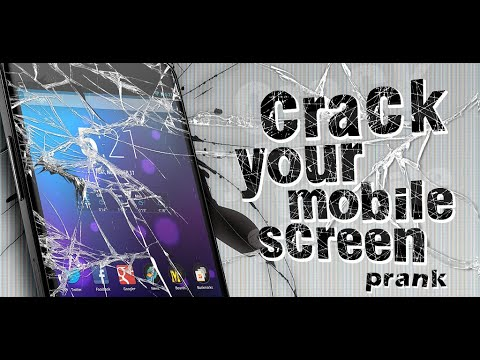 Video of Crack your mobile screen