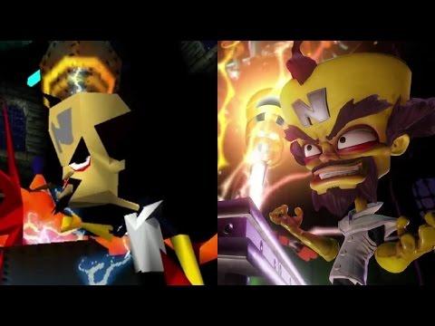 Crash Bandicoot remastered intro vs original (видео)