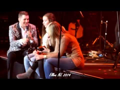 Michael Bublé - Me & Mrs Jones (with 3 fans on stage) + A Song For You, 19-1-2014, Amsterdam