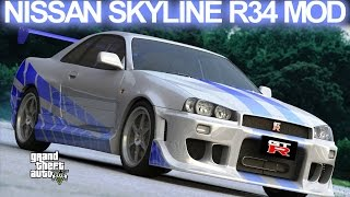 Nonton GTA 5 - Nissan Skyline GT-R R34 Fast and Furious Mod HD Film Subtitle Indonesia Streaming Movie Download