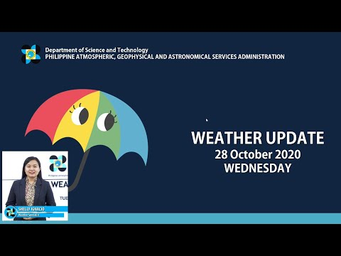 Public Weather Forecast Issued at 4:00 AM October 28, 2020