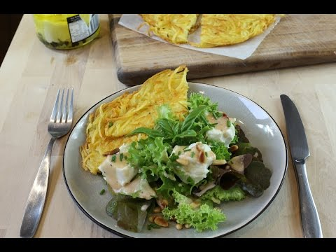 How To Make French Potato Crepes (Rosti) & Goat Cheese Salad