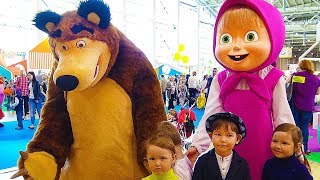 Video Hello song / Masha and the Bear & other cartoon characters. Indoor playground & funny Vlad playtime MP3, 3GP, MP4, WEBM, AVI, FLV September 2018