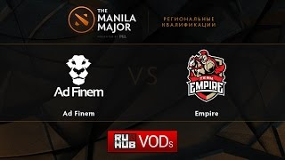 Ad Finem vs Empire, game 1