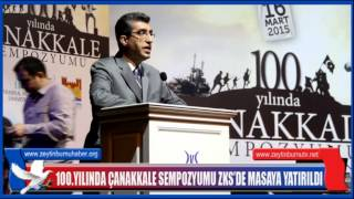 100 YILINDAÇANAKKALE SEMPOZYUMU ZKS'DE MASAYA YATIRILDI
