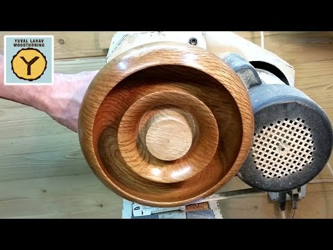 Woodturning Footed Torus Hollow Form