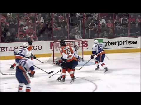 Colin McDonald vs Scott Hartnell fight Mar 28 2013 NY Islanders vs Philadelphia Flyers NHL - YouTube