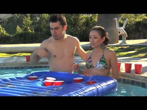Mammoth Peak Inflatable Portable Beer Pong Table Commercial