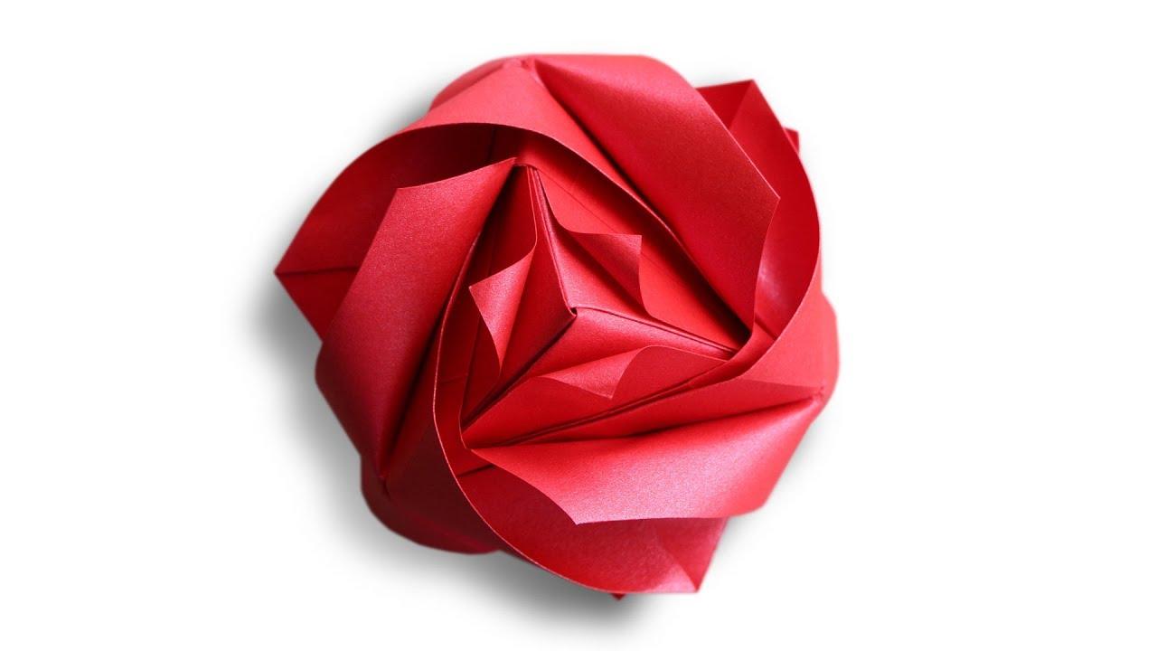 Origami Royal Rose Cube (Maria Sinayskaya)