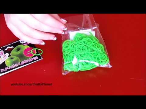 GREEN APPLE Scented Rainbow Loom Rubber Band Haul – Rubber Band Bracelets, Rings, Charms