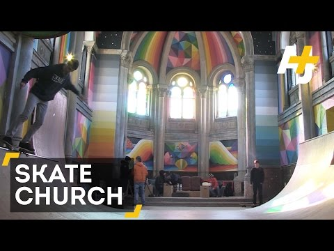 Abandoned Church Converted Into Skateboarding Sanctuary