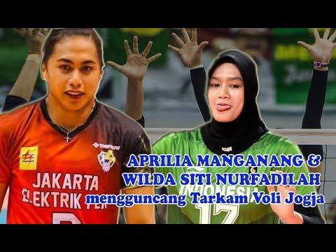 Permainan Ciamik Aprilia Manganang & wilda Siti Nurfadillah di Turnamen Bola Voli Tarkam Yogyakarta