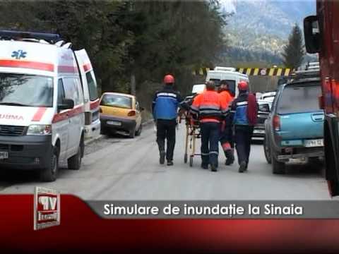Simulare de inundaţie la Sinaia