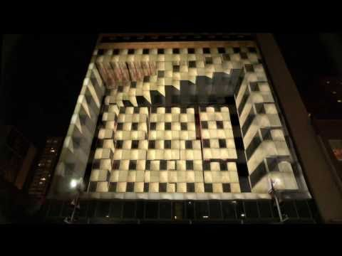 mapping - This building projection was to promote the new movie
