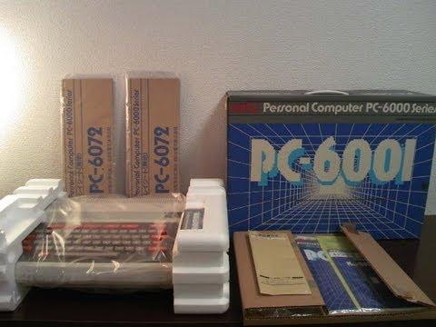 1981年発売のパソコンPC-6001の未開封品を開けました(スライドショー)