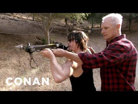 Walking Dead's Norman Reedus Learning Crossbow