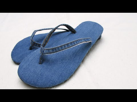How to upcycle old jeans into new flip flops - #116